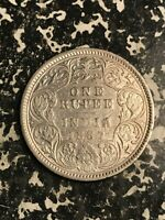 1887 INDIA 1 RUPEE LOTL5966 SILVER  CLEANED