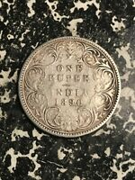 1890 INDIA 1 RUPEE LOTL5974 SILVER  DEPOSITS & CLEANED