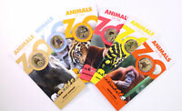 2012 RAM COMPLETE SET OF ANIMALS OF THE ZOO COLOURED $1 ONE