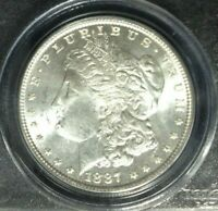 1887 MORGAN SILVER DOLLAR  PCGS MINT STATE 64 VAM 5 OLD GREEN HOLDER