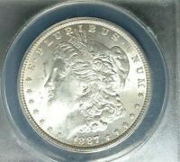 1887 MORGAN SILVER DOLLAR  ANACS MINT STATE 62 VAM 21A BEAUTIFUL COIN