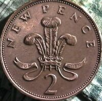 STUNNING 1979 2 CENT NEW PENCE ELIZABETH II