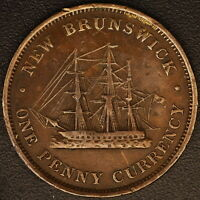 1854 NEW BRUNSWICK ONE PENNY