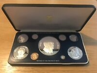 PANAMA 1975 9 COIN PROOF SET 5.693OZ SILVER INCLUDING 130 GR