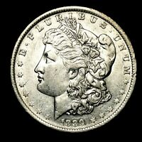 1889 O ABOUT UNCIRCULATED AU SILVER MORGAN DOLLAR  US OLD COIN B18