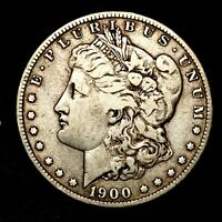 1900 S KEY DATE SILVER MORGAN DOLLAR  US OLD ANTIQUE COIN V42
