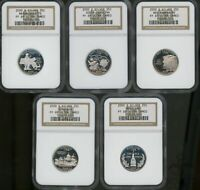 SET OF 5: 2000 S STATEHOOD SILVER PROOF QUARTERS PF69 ULTRA
