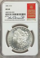 1881-S US MORGAN SILVER DOLLAR $1 - NGC MINT STATE 68