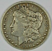 1884 SILVER MORGAN DOLLAR B641.28