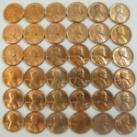 LINCOLN MEMORIAL PENNY CENTS 1959   1974 P D S SET 36 UNCIRCULATED BU COINS