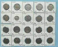 LOT OF 20 ITALY 1 LIRA COINS