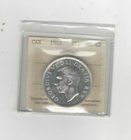 1948  ICCS GRADED CANADIAN SILVER DOLLAR   MS 62