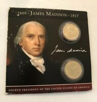 2007 JAMES MADISON COINS OF AMERICA $1 DOLLAR BOTH P AND D UNCIRCULATED MC-049