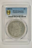 1895-S MORGAN SILVER DOLLAR $1 PCGS  GOOD VG DETAILS CLEANED 37493255