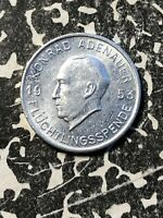 1953 BONN 1/2 MARK GERMANY TOKEN LOTN307 ADENAUER FLUCHTLINGSSPENDE