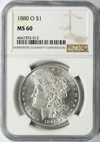 1880-O $1 MORGAN DOLLAR NGC MINT STATE 60