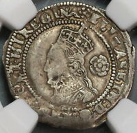 1575 NGC XF 45 ELIZABETH I 3 PENCE BRITAIN ENGLAND SILVER COIN S 2566  19091902C