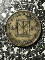 1869 GREAT BRITAIN CITY OF LONDON BREWERY 'Q' TOKEN LOTJM1282
