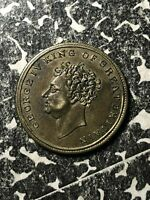 1830 GREAT BRITAIN KING GEORGE IV DEATH MEDALET LOTJM1307