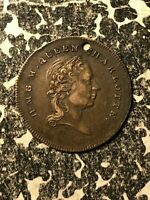 1818 GREAT BRITAIN QUEEN CHARLOTTE DEATH MEDALET LOTJM1313