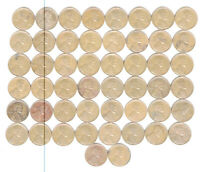 1942 S FULL ROLL WHEAT CENTS 50 COINS NO JUNK FINE TO X-FINE