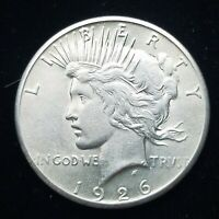 1926-P  PEACE SILVER DOLLAR   BETTER-DATE COIN  AU QUALITY