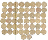 1945 S FULL ROLL WHEAT CENTS 50 COINS NO JUNK FINE TO X-FINE