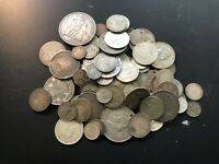 MASSIVE BULK LOT OF 100  OLDER WORLD CULL SILVER COINS LOTA0