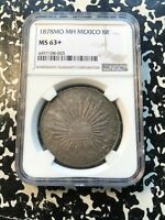 1878 MO MH MEXICO 8 REALES NGC MS63  LOTHZ66 LARGE SILVER CO