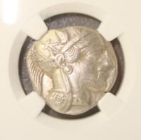 440 404 BC ATTICA ATHENS ANCIENT GREEK SILVER TETRADRACHM NG