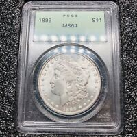 1899 P MORGAN DOLLAR PCGS MINT STATE 64
