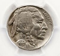 1937 D BUFFALO NICKEL   PCGS VF 20 3 LEGS   CERTIFIED 5C