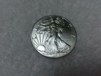 ONE 2018 SILVER AMERICAN EAGLE COIN. GENUINE OUNCE OF SILVER