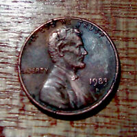 1983 D LINCOLN CENT ON COPPER 1982 PLANCHET TRANSITIONAL OFF