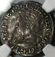 1553 NGC VF 30 QUEEN MARY GROAT 4 PENCE GREAT BRITAIN ENGLAND COIN  19102302C