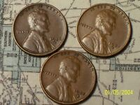 1935-S1936-S1937-S @  HIGH QUALITY 3 LINCOLN PENNYS