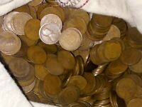 50 WHEAT PENNIES  ONE ROLL OF TEEN CENTS 1909 TO 1919 P D S MINTS GREAT MIX