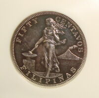 1903 PHILIPPINES USA ADMINISTRATION PROOF SILVER FIFTY CENTA