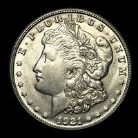 1921 S EXTRA FINE /AU SILVER MORGAN DOLLAR  US OLD COIN V55