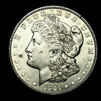 1921 S ABOUT UNCIRCULATED AU SILVER MORGAN DOLLAR  US OLD COIN 95