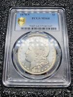 PCGS 1878 S MINT STATE 64 MORGAN SILVER DOLLAR BETTER DATE  - STOCK PHOTO