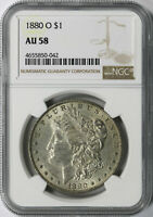 1880-O $1 MORGAN DOLLAR NGC AU58