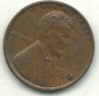 HIGH GRADE EXTRA FINE  1938 D LINCOLN CENT-OLD COIN-JUL038
