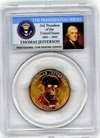 2007 -P - PCGS MINT STATE 66 - POS. B - THOMAS JEFFERSON PRESIDENTIAL DOLLAR - ERROR COIN
