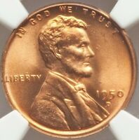 1950 D/D LINCOLN CENT MINT STATE 67 NGC