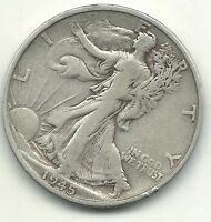 A VINTAGE BETTER GRADE 1945 S/S LIBERTY WALKING SILVER HALF DOLLAR COIN-AGT040