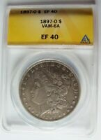 1897 O EF MORGAN DOLLAR VAM 6A