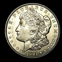 1921 D ABOUT UNCIRCULATED AU SILVER MORGAN DOLLAR  US OLD COIN 970