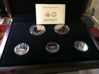 2017  RCM LEGACY OF THE PENNY PROOF SILVER 5 LARGE COIN SET