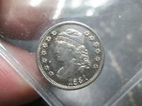 1831 EARLY BUST HALF DIME ABOUT UNCIRCULATED CONDITION